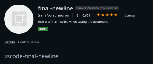 Final Newline