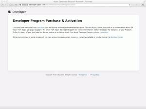 Developer Program Purchase & Activation