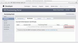 Request Certificate