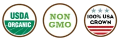 Organic, Non GMO and Made in the USA