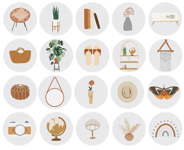BOHO Instagram-Story-Highlight-Icons