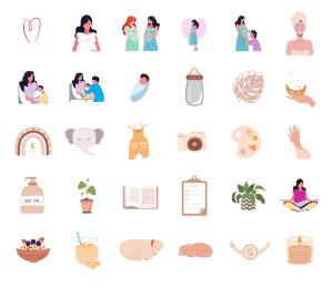 2. FAMILY LIFE 2 - Instagram Story Highlight Icons - MushroomDana