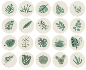 BEAUTIFUL LEAVES - 20 Instagram Story Highlight Icons - MushroomDana.