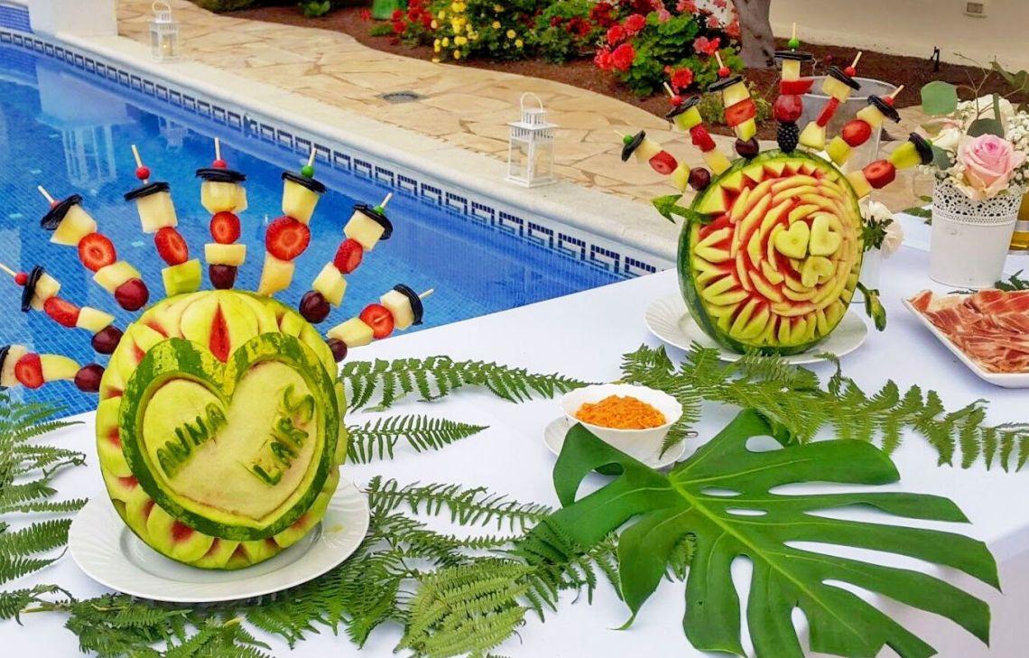 Tenerife decorar boda con frutas