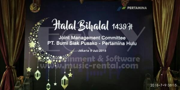 Sewa Band Jakarta Selatan Halal Bihalal Pertamina di AXA Tower Kuningan City