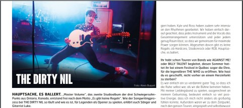 The Dirty Nil, Fuze Magazin 69 OCT/NOV 18, http://fuze-magazine.de