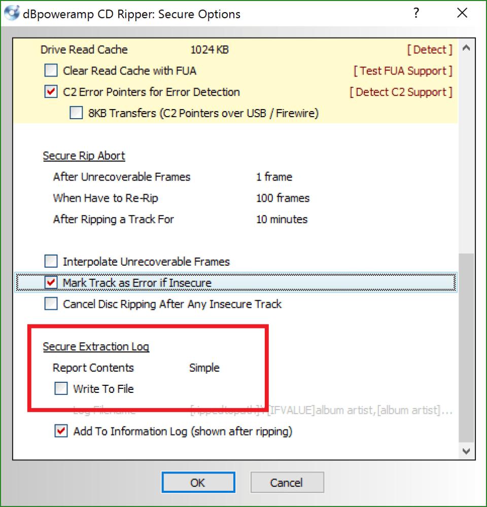 dBpoweramp CD Ripperの設定方法: