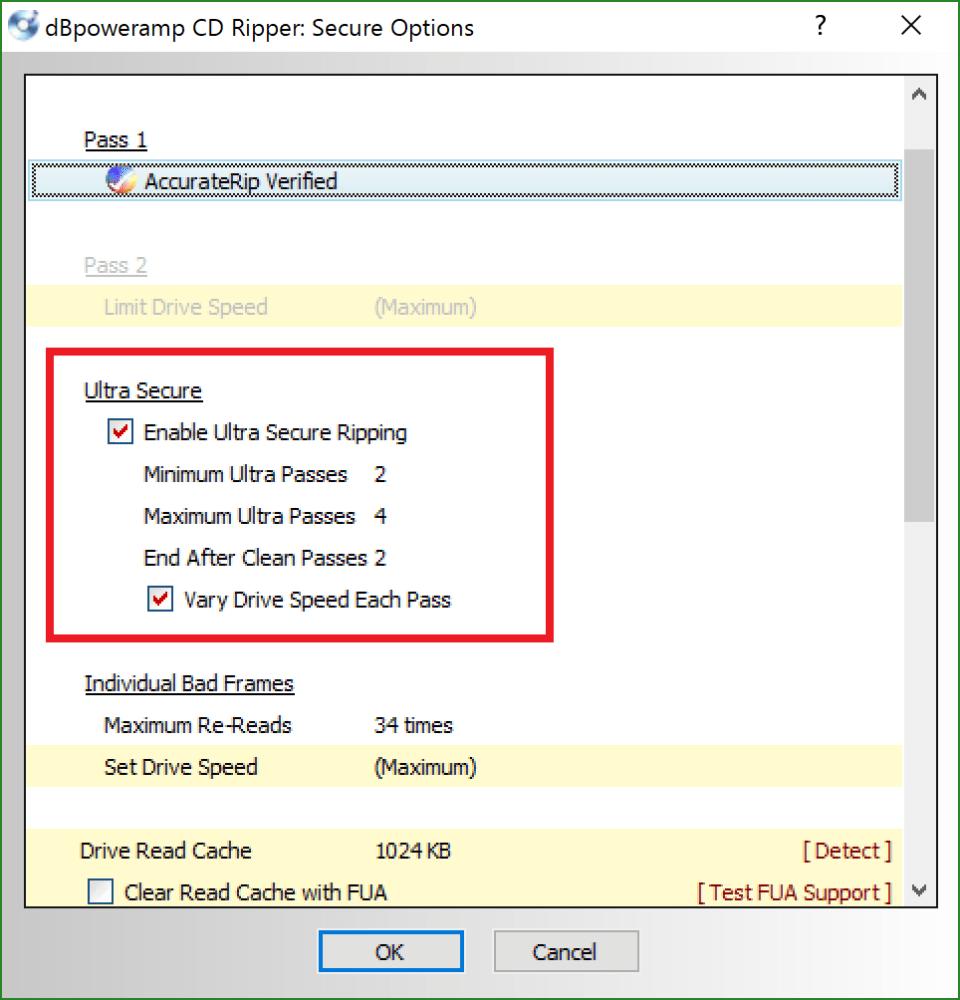 dBpoweramp CD Ripperの設定方法