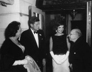 Photo: The Kennedys host 80th birthday dinner for Stravinsky at White House