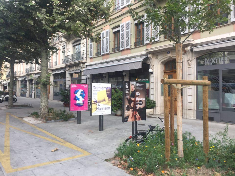 A concert poster outdoor in Geneva