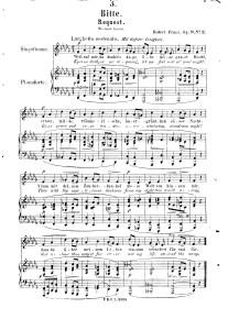 Роберт Франц. Bitte (Просьба) на стихи Н. Ленау (op. 9 № 3)