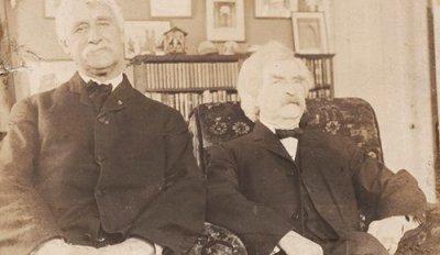 Марк Твен и Джозеф Твитчелл (до 1910 г.)