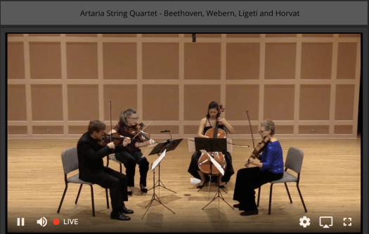 Artaria String Quartet perform mvt11 of The Thailand HRDs