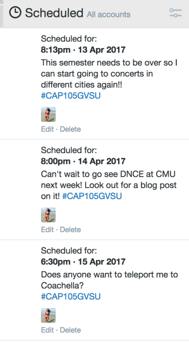 Kline, J. (13 April 2017). Tweetdeck screenshot for @jessicakline_ [JPEG]. Retrieved from www.tweetdeck.twitter.com
