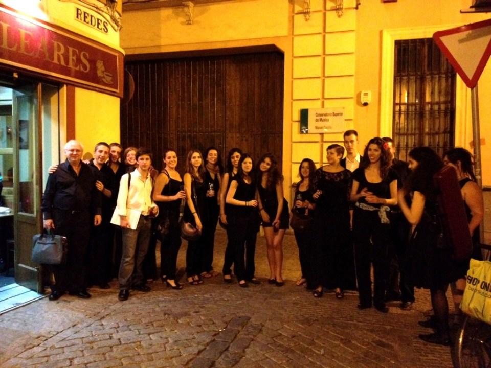Miembros de la Orquesta Barroca del conservatorio