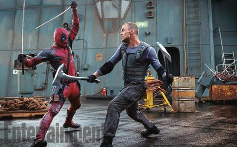"""Ryan Reynolds y Ed Skrein en """"Deadpool""""."""