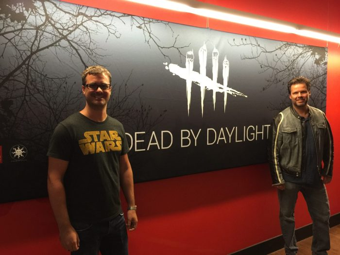 Dead By Daylight: (L to R) Frédéric Poirier, Michel F. April