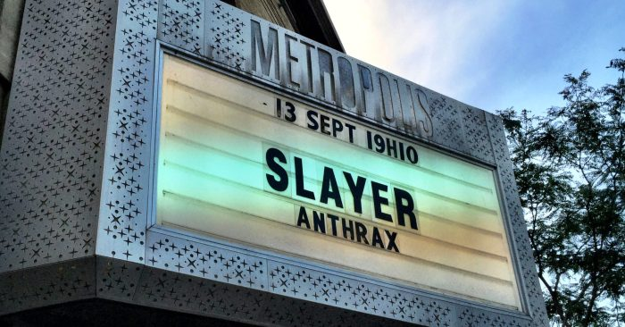 Slayer marquee