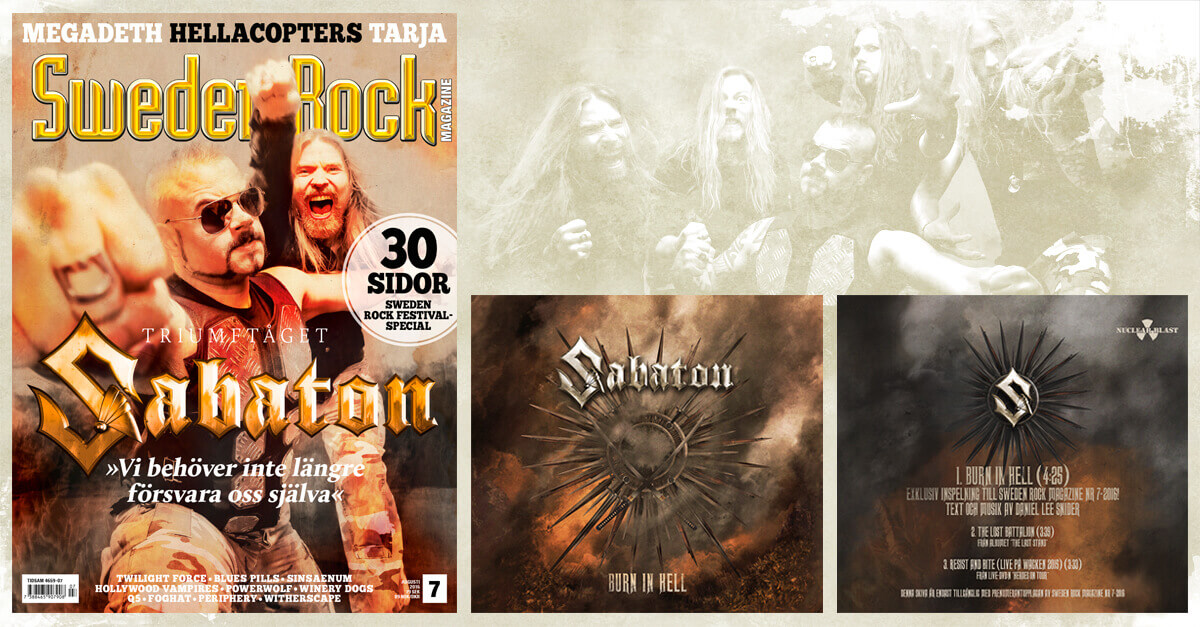 "Album review: Sabaton - ""Burn in Hell"" (Sweden Rock Magazine exclusive)"