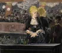 """Primera versión de la obra de Manet """"Un bar del Folies Bergère"""" (1881)."""
