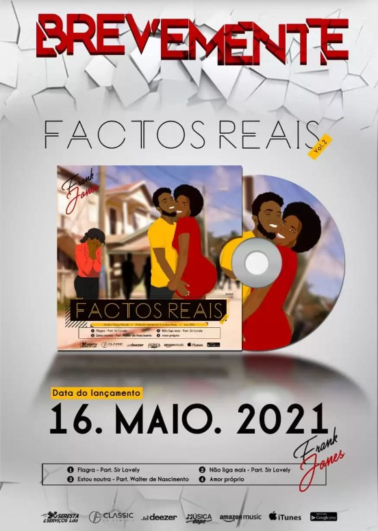 Frank Jonez anuncia nova EP ''Factos Reais Vol.2'' e revela sua capa