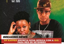 DP Rapper anuncia nova música com Isis para mês de Setembro