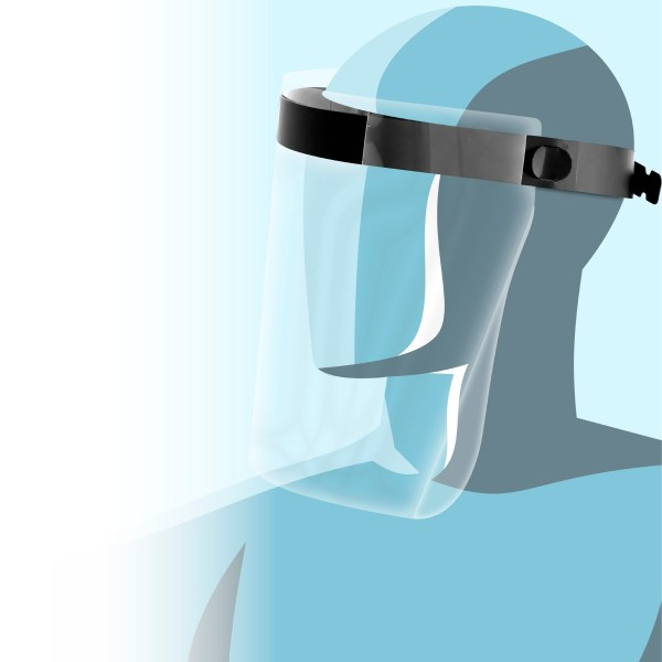 Protetor facial desenvolvido pela Izzo