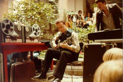 Fripp with Revox recorders