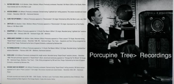 Porcupione Tree - Recordings