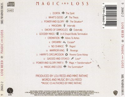 Lou Reed, Magic and Loss back