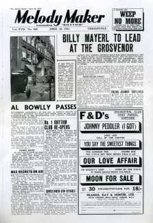 Al Bowlly Dead, Melody Maker April 1941