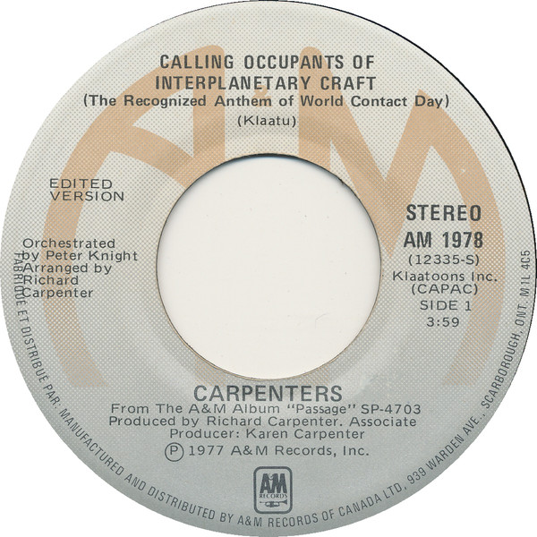 Calling Occupants Carpenters Single