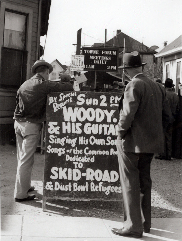 Woody Guthrie LA Skid Row
