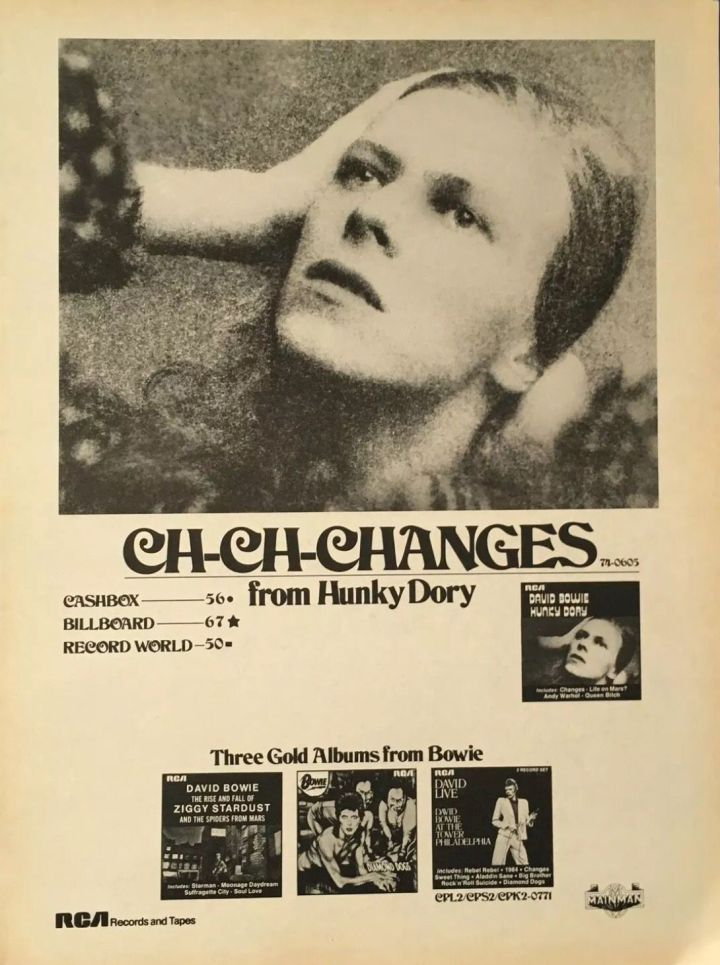 Bowie Changes ad