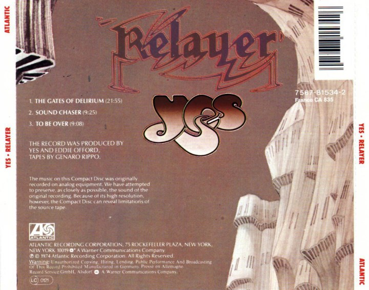 The Story Behind The : Relayer, by Yes