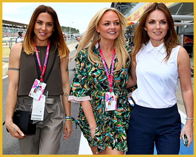 Mini Reunião Spice Girls no Grand Prix Silverstone