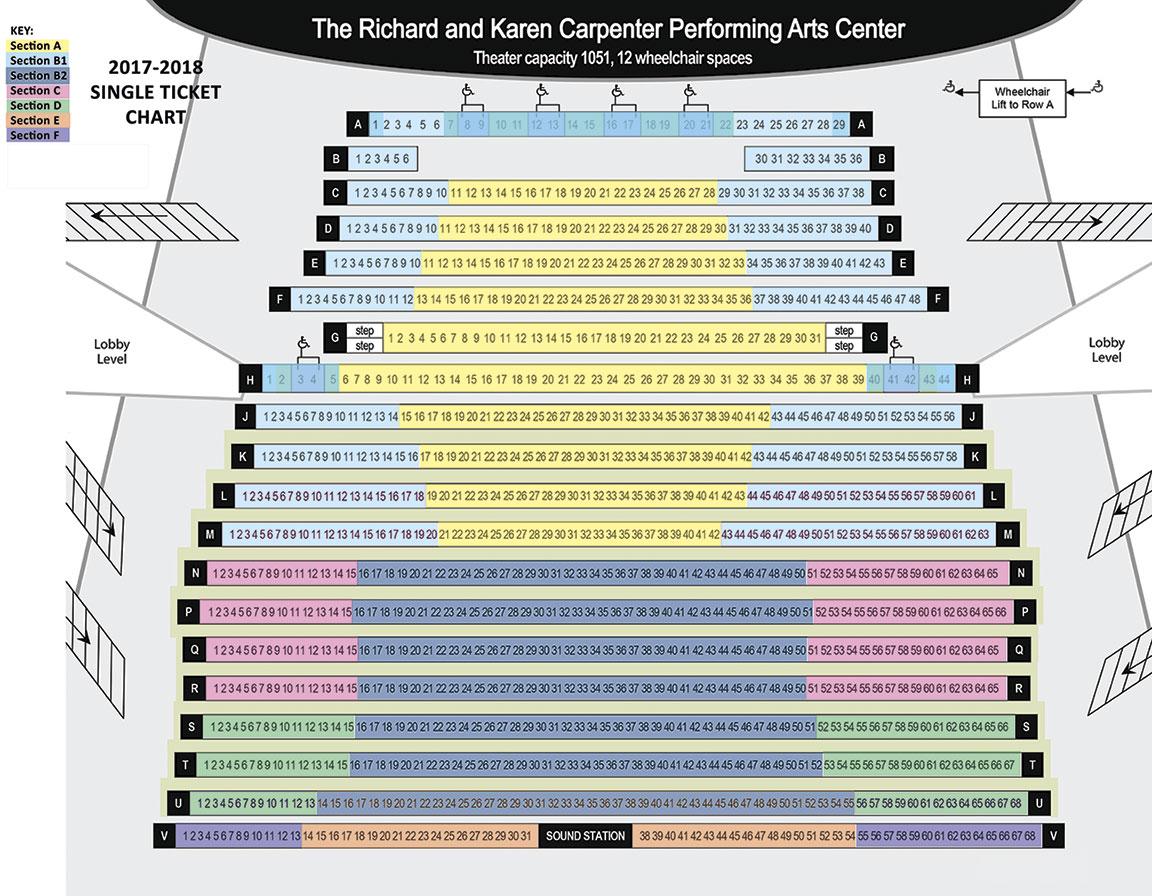 Karen Carpenter Performing Arts Center Seating