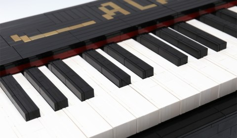 Life-Size 88 Key Working Piano Made Out of Lego