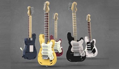 Legendary Stratocaster in LEGO