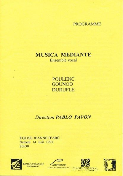 _3 - 1997-06-14 Concert Clermont-Ferrand Programme