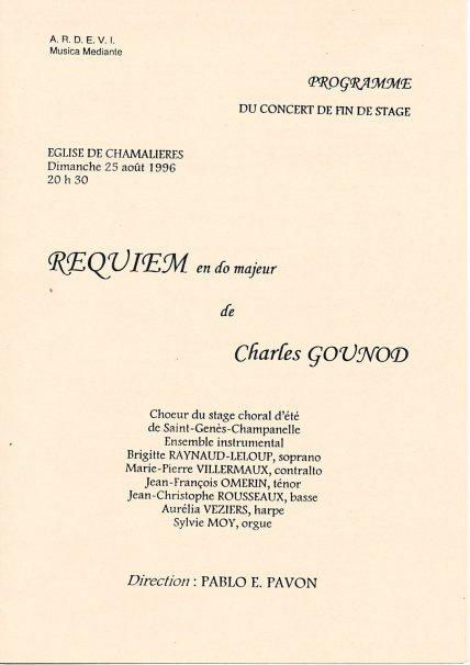 _4 - 1996-08-25 Stage été Concert Chamalières Programme