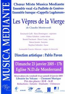 _1 - 2005-01-23 Concert Clermont-Ferrand Flyer