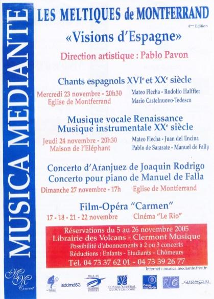 _2 - 2005-11-18au27 Meltiques Affiche Programme couverture