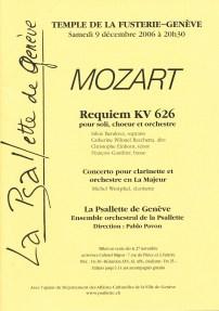 _2006-12-09 Concert Suisse Genève Programme couverture p1