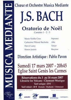 _2007-03-17 Concert Clermont-Ferrand Affiche