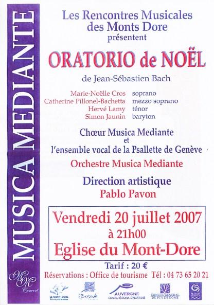_2007-07-20 Stage été Concert Le Mont-Dore Affiche