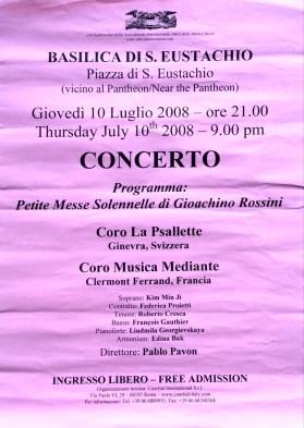 _2008-07-10 Concert Italie Rome Affiche