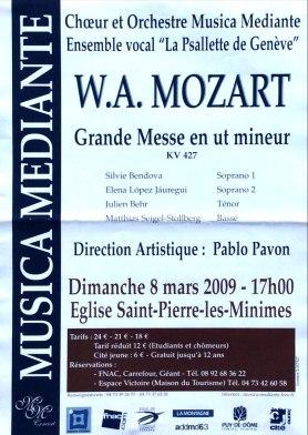 2009-03-08 Concert Clermont-Ferrand Affiche