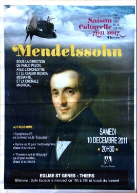 2011-12-10 Concert Thiers (Meltiques) Affiche