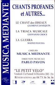 _3 - 2002-12-13+14 Concerts Clermont-Ferrand Affiche